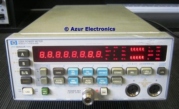 Hp 438a power meter operating manual cd 00438-90028   ebay.